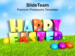 Easter Bunny Pics Multi Color Design For Happy Wishes Powerpoint Templates Ppt Backgrounds Slides