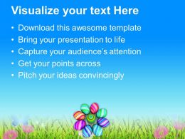 Easter Bunny Pics Multicolored Designer Eggs Powerpoint Templates Ppt Backgrounds For Slides