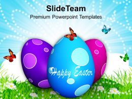Easter Bunny Pics Multicolored Eggs With Surprise Powerpoint Templates Ppt Backgrounds For Slides