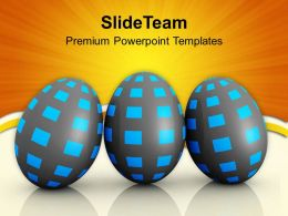 Easter Bunny Pics Shiney Same Pattern And Colored Powerpoint Templates Ppt Backgrounds For Slides