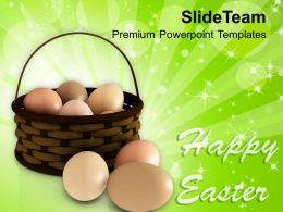 Easter Clipart Happy Day With Eggs In Basket Powerpoint Templates Ppt Backgrounds For Slides