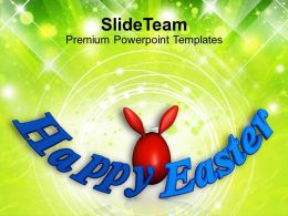 Easter Clipart Red Bunny Egg Holiday Powerpoint Templates Ppt Backgrounds For Slides