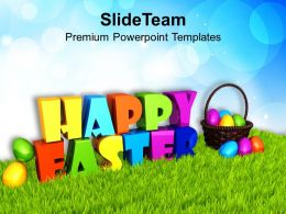 Easter Day Express Your Wishes With Happy Theme Powerpoint Templates Ppt Backgrounds For Slides