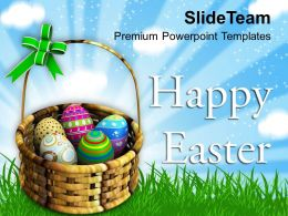Easter Day Warm Wishes Of Happy Powerpoint Templates Ppt Backgrounds For Slides