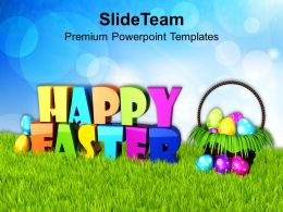 Easter Day Wishes Of Happy With Bright Sky Theme Powerpoint Templates Ppt Backgrounds For Slides