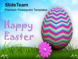 Easter Day Wishes Of Happy With Text Powerpoint Templates Ppt Backgrounds For Slides