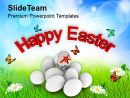 Easter Egg Bunny Happy Day Religious Festival Powerpoint Templates Ppt Backgrounds For Slides