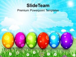 Easter Egg Clipart Colourful Eggs In Row Powerpoint Templates Ppt Backgrounds For Slides