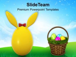 Easter Egg Clipart Cute Bunny For Powerpoint Templates Ppt Backgrounds Slides