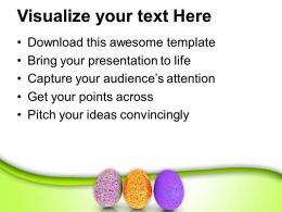Easter Egg Clipart Glossy And Textured Eggs Powerpoint Templates Ppt Backgrounds For Slides