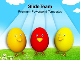 Easter Egg Clipart Three Eggs Toys Festival Powerpoint Templates Ppt Backgrounds For Slides