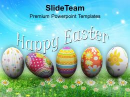 Easter Eggs Bunny Festival Powerpoint Templates Ppt Backgrounds For Slides
