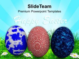 Easter Eggs Bunny Multicolored With Bright Theme Powerpoint Templates Ppt Backgrounds For Slides