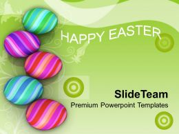 Easter Eggs Bunny Symbols Of New Life Powerpoint Templates Ppt Backgrounds For Slides