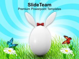 Easter Eggs Bunny White Symbol Of Day Holiday Powerpoint Templates Ppt Backgrounds For Slides