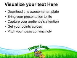 Easter Eggs In Gift Basket Powerpoint Templates Ppt Themes And Graphics 0313