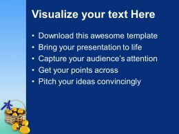 Easter Eggs Lets Celebrate With Powerpoint Templates Ppt Backgrounds For Slides