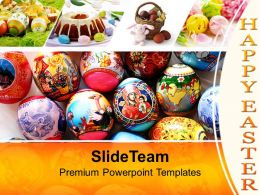 Easter Eggs With Excellent Design Powerpoint Templates Ppt Themes And Graphics 0313