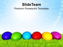 Easter Holiday Different Color Of Powerpoint Templates Ppt Backgrounds For Slides