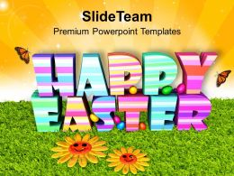 Easter Holiday Happy Theme With 3d Powerpoint Templates Ppt Backgrounds For Slides