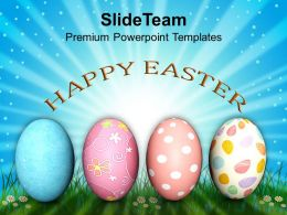 Easter Holiday Message Of Hope Festival Powerpoint Templates Ppt Backgrounds For Slides
