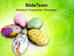 Easter Prayer Painted Circular Eggs Holidays Powerpoint Templates Ppt Backgrounds For Slides