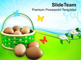 Easter Sunday Basket The Appearance Of Birds Nest Festival Powerpoint Templates Ppt Backgrounds For Slides