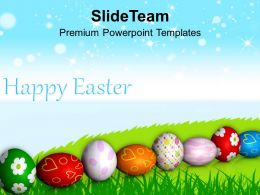 Easter Traditions Colorful Eggs Celebration Of Spring Time Powerpoint Templates Ppt Backgrounds For Slides
