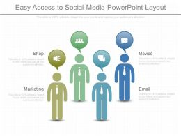 Easy Access To Social Media Powerpoint Layout