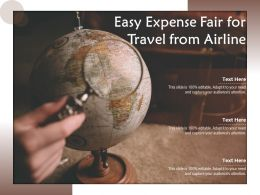 Easy Expense Fair For Travel From Airline