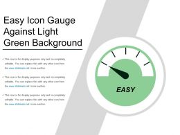 Easy Icon Gauge Against Light Green Background