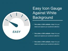 Easy Icon Gauge Against White Background