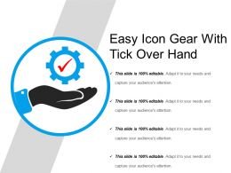 Easy Icon Gear With Tick Over Hand