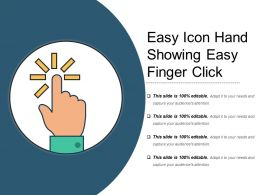 Easy Icon Hand Showing Easy Finger Click