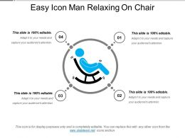 Easy Icon Man Relaxing On Chair