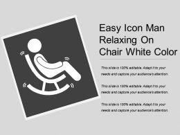 Easy Icon Man Relaxing On Chair White Color