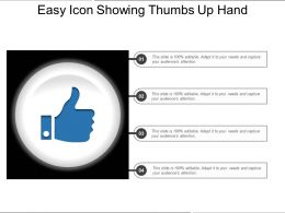 Easy Icon Showing Thumbs Up Hand