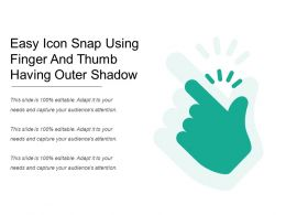 Easy Icon Snap Using Finger And Thumb Having Outer Shadow