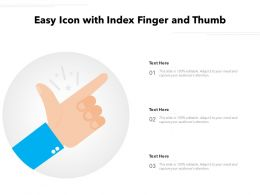 Easy Icon With Index Finger And Thumb