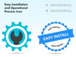 Easy Installation And Operational Process Icon