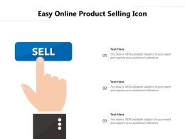 Easy Online Product Selling Icon