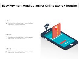 Easy Payment Application For Online Money Transfer
