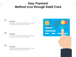 Easy Payment Method Icon Through Debit Card