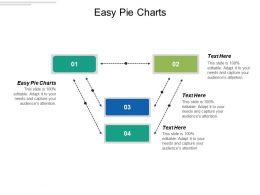 Easy Pie Charts Ppt Powerpoint Presentation Gallery Example Cpb