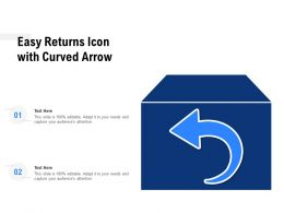 Easy Returns Icon With Curved Arrow