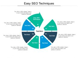 Easy SEO Techniques Ppt Powerpoint Presentation Icon Sample Cpb