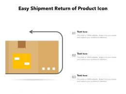 Easy Shipment Return Of Product Icon