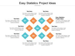 Easy Statistics Project Ideas Ppt Powerpoint Presentation Summary Visuals Cpb