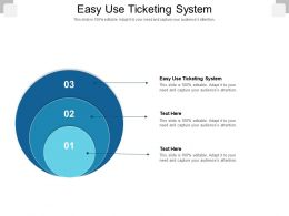 Easy Use Ticketing System Ppt Powerpoint Presentation File Graphics Example Cpb