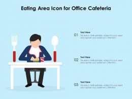 Eating Area Icon For Office Cafeteria